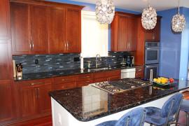 Sparkly Blue Kitchen Backsplash