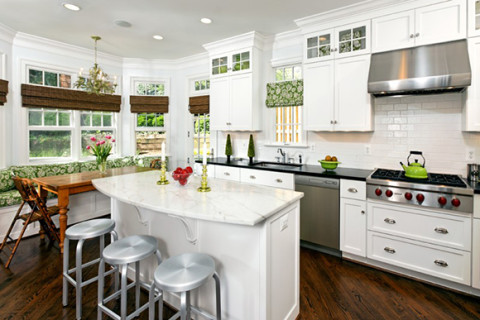 White Kitchen with Professional Appliances