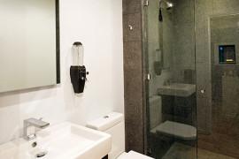 Small Contemporary Hall Bath