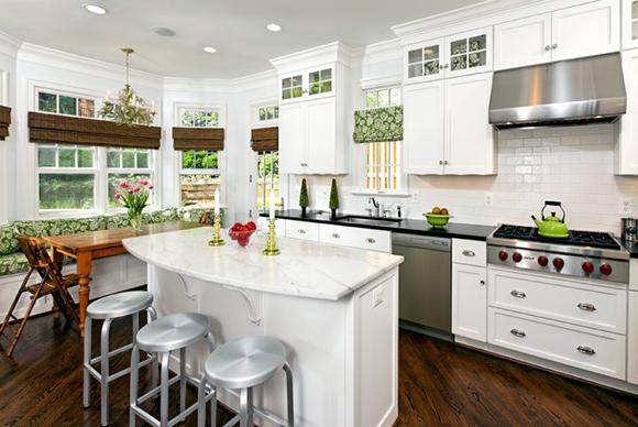 A-KIT-2a  White Kitchen with Professional Appliances (McM