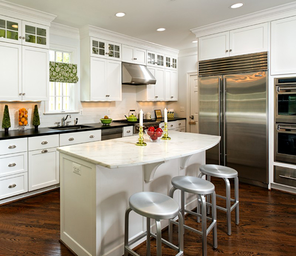 Mcm Kitchen Remodel: White Kitchen With Professional Appliances