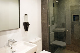 Small Contemporary Hall Bath