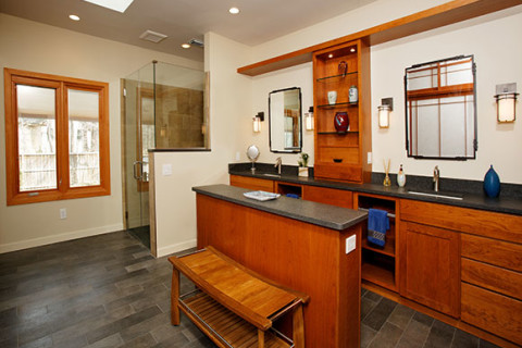 Asian-Inspired Master Bath