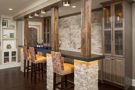 Rustic Stone & Reclaimed Wood Bar