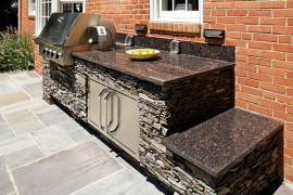 Dramatic Outdoor Kitchen